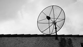 Satellite dish. On the roof Stock Photo