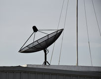 Satellite dish on the roof. Royalty Free Stock Image