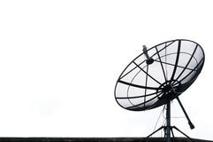 A Satellite dish on the roof Stock Photo