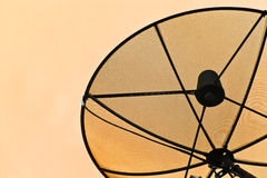 Satellite dish on the roof. Satellite dish on the roof back home Stock Image