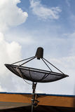 Satellite dish on roof Royalty Free Stock Photos