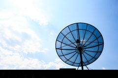Satellite dish on roof Stock Image
