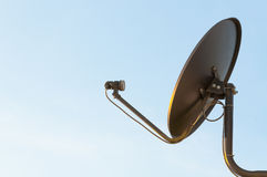 Satellite dish on the roof and clear sky background Royalty Free Stock Photography