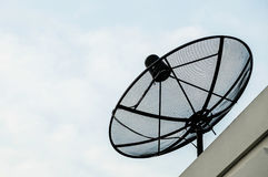 Satellite dish. On the roof house Stock Image
