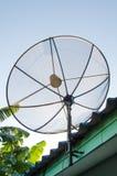 Satellite dish on roof Royalty Free Stock Image