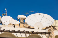 Satellite dish on the roof. Stock Images
