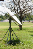 Satellite dish in rural area. Satellite dish in the country side Kalasin, Thailand Royalty Free Stock Images