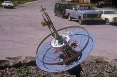 Satellite dish sculpture in Telluride, CO Royalty Free Stock Images