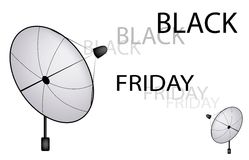 A Satellite Dish Sending A Black Friday Sign Royalty Free Stock Image