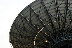 Satellite dish with shaped light Stock Photography