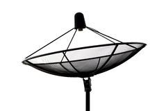 Satellite dish silhouette Stock Image