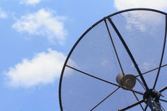 Satellite dish in sky Royalty Free Stock Images
