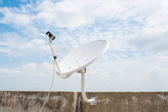 Satellite dish sky communication technology network Royalty Free Stock Image