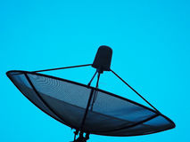 Satellite dish sky sunset communication technology  TV. Satellite dish sky sunset communication technology  television Stock Photos