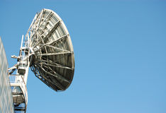 Satellite dish with space for copy Royalty Free Stock Photos