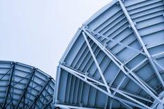 Satellite dish space Stock Image