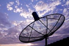 Satellite dish in sunrise Royalty Free Stock Photography