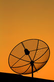 Satellite dish in sunset Stock Photography