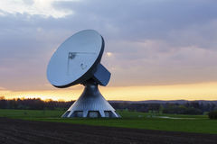 Satellite dish. An Satellite dish in the sunset Royalty Free Stock Image