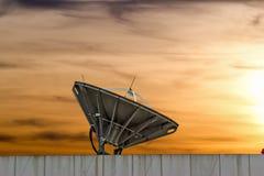 Satellite dish on sunset chonburi thailand. Satellite dish near chonburi thailand Stock Images
