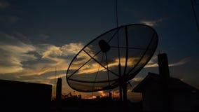 Satellite Dish on sunset. HD stock video