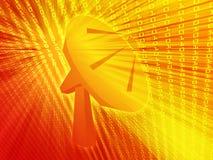 Satellite dish telecommunications illustration Royalty Free Stock Images