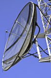 Satellite dish on a telecommunications tower Royalty Free Stock Photos
