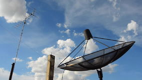 Satellite dish and Television aerials. HD Royalty Free Stock Photography
