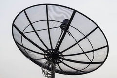 Satellite dish on top of the building. Outdoor Royalty Free Stock Photo