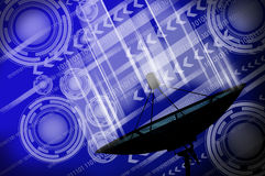 Satellite dish transmission data. Communications royalty free stock photo