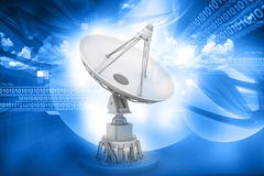 Satellite dish transmission data Royalty Free Stock Images