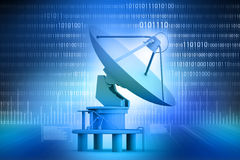 Satellite dish transmission data Royalty Free Stock Image