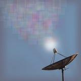 Satellite dish transmission data Royalty Free Stock Photography