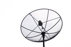 Satellite dish transmission data  on white background Stock Image