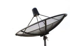 Satellite dish transmission data  on white background Royalty Free Stock Photo