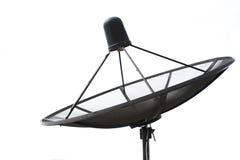 Satellite dish transmission data  on white background Royalty Free Stock Image