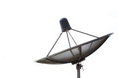 Satellite dish transmission data  on white background Royalty Free Stock Photography