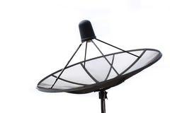 Satellite dish transmission data  on white background Royalty Free Stock Images