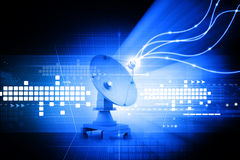 Satellite dish transmission Stock Photo