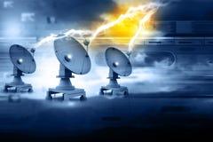 Satellite dish transmission Royalty Free Stock Photography
