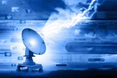 Satellite dish transmission Stock Photography