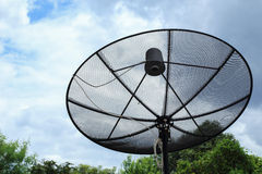 Satellite dish and TV antennas communication technology Royalty Free Stock Photos