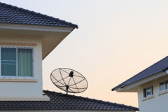 Satellite dish and TV antennas Royalty Free Stock Image