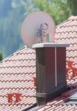 Satellite dish - TV royalty free stock image