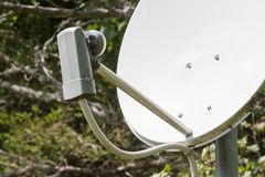 Satellite dish - TV. Satellite dish - Receiving TV, internet and radio Stock Photo