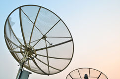 Satellite dish at twilight Stock Photography