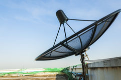 Satellite Dish Under Blue Sky Stock Images