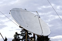 Satellite dish used for SAT TV Stock Image