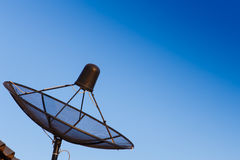 Satellite dish. Is very distant royalty free stock image