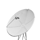 A satellite dish. On a white background royalty free stock photo